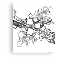 Number One Box - Sketch Pen & Ink Illustration Art Canvas Print