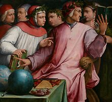 Six Tuscan Poets, 1544 by Bridgeman Art Library