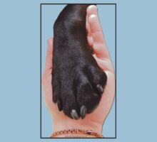Black Dog Paw In Hand Kids Clothes