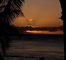 Sunset over Waikiki by Timothy L. Gernert