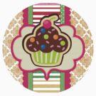 Hey There, Cupcake! Sticker by David & Kristine Masterson