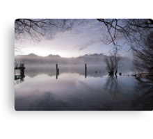Old Jetty Remains, Kinloch NZ Canvas Print