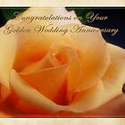 Happy Golden Anniversary by Lucinda Walter