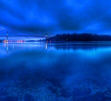 Blue Hour on Stanley Park and the Lions Gate Bridge,  by Marcel Pepin