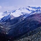 Mountains at Whistler from Peak To Peak Lift by Yukondick
