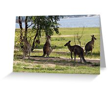 Bigger pouch mom Greeting Card
