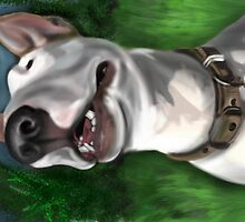 Lola English Bull Terrier Painting 2 by Sookiesooker
