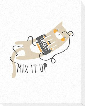 Mixtape Kitty by thekitschycat