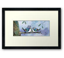 Birds of Blue Framed Print