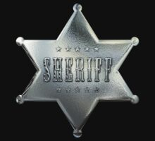 Silver Star Sheriff Badge in Chrome by Chromed