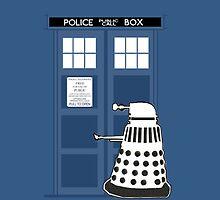 DALEK IN THE TARDIS by qfabb