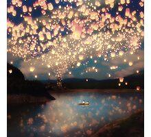 Wish Lanterns for Love Photographic Print