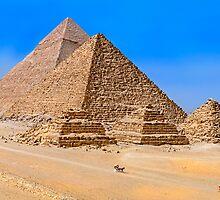Menkaure & queens) & Khafre pyramids3. by bulljup
