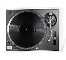 Professional turntable vinyl record player Poster