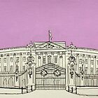Buckingham Palace ( Mauve ) by Adam Regester