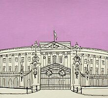 Buckingham Palace ( Mauve ) by Adam Regester