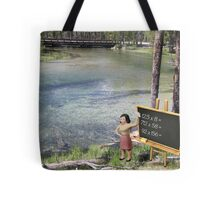 There was obvious confusion when Terry suggested to Sandy that she test the water. Tote Bag