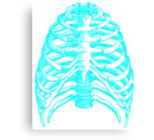 Skeleton rib cage - blue Canvas Print
