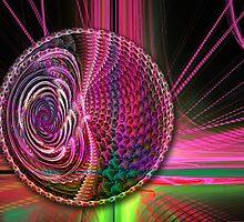 Beams and a Ball, abstract fractal artwork by walstraasart