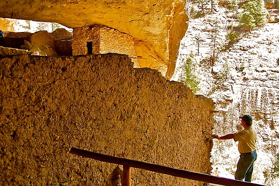 Gila Cliff Dwellings by Nancy Richard