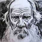 Portrait of Leo Tolstoy by andrea v