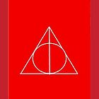 The Deathly Hallows (In Red) by PiranhaCakes