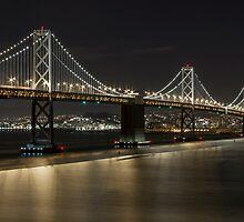 Bay Bridge at Night I by Richard Thelen