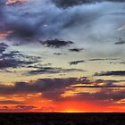 sunset across the hay plains by outbacksnaps