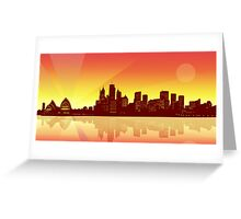 Sydney Sunset Greeting Card