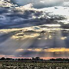 hay plains sunset by outbacksnaps