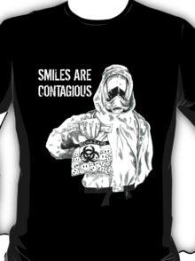Smiles are contagious (w/ white text) T-Shirt