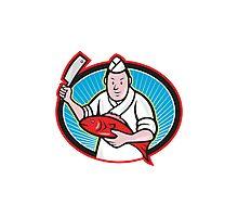 Japanese Fishmonger Butcher Chef Cook  Photographic Print