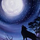 'Wolf Howling' by jansimpressions