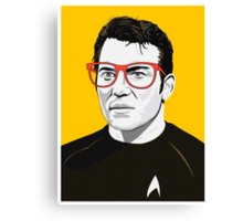 Star Trek James T. Kirk (William Shatner) Pop Art  illustration Canvas Print
