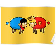 Merlin and Arthur Sheep Edition Poster
