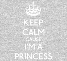 Keep Calm cause I'm a Princess (White) Kids Clothes