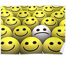 Sad smiley Poster