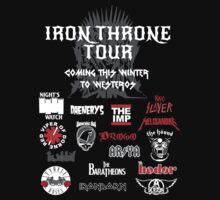 Iron Throne Tour (Game of Thrones Shirt) by IG-HateyHate
