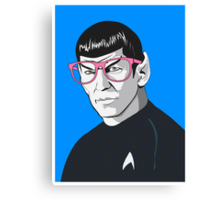 Pop Art Spock Star Trek  Canvas Print