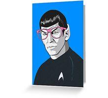 Pop Art Spock Star Trek  Greeting Card