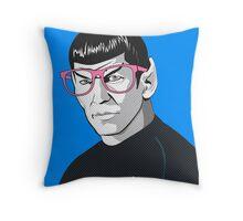 Pop Art Spock Star Trek  Throw Pillow