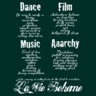 La Vie Boheme B - Rent - Dance, Film, Music, Anarchy - White by Hrern1313