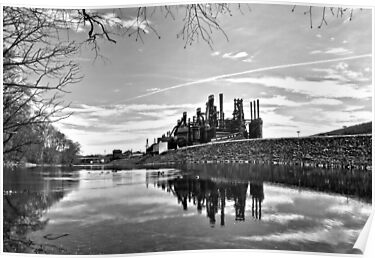 Reflection on the Lehigh by djphoto