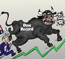 Taureau de Wall Street et Oncle Sam by Binary-Options