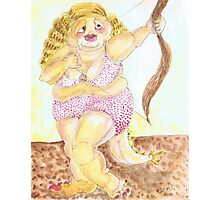 Cheesecake Monster Lady with Arrow Photographic Print