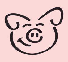 Cute Happy Piglet Face T-Shirt