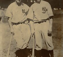 Lou Gehrig and Babe Ruth by Kenneth Hoffman