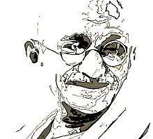 Ghandi inspiration by Adam Asar