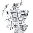 Scotland Typography Map by NicholaNR