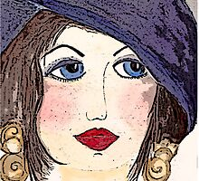 Woman with Hat  by marietjie